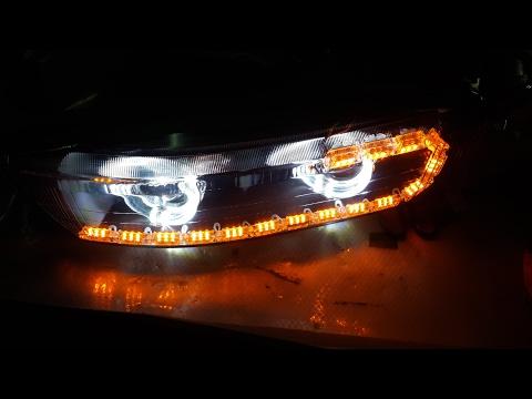 Гаражный тюнинг 6 - Тюнинг оптики (фар) Mitsubishi Galant VIII (8)