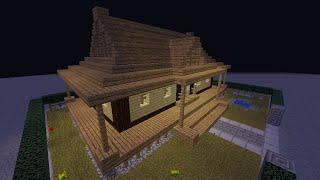 Minecraft 簡単に作れる!和風建築の屋根&縁側のある家【建築】