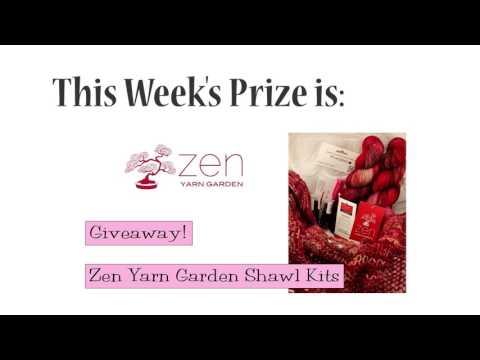 Winners Announced!  Zen Yarn Garden Shawl Kits