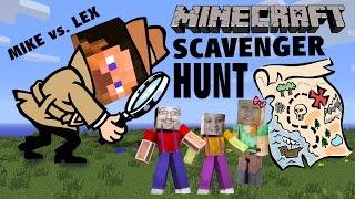 getlinkyoutube.com-Minecraft Scavenger Hunt w/ Dad & Kids! (Pocket Edition Game) Mike vs. Lex - CREATIVE FUN!