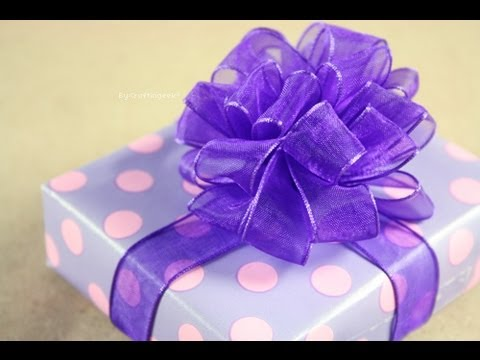 Moño Pom Pom - Puffy - How to: Gift Bows