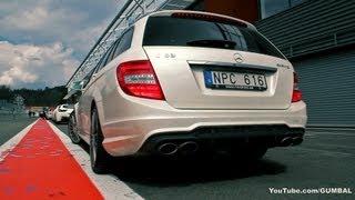 getlinkyoutube.com-Mercedes-Benz C63 AMG Estate - Lovely sounds!