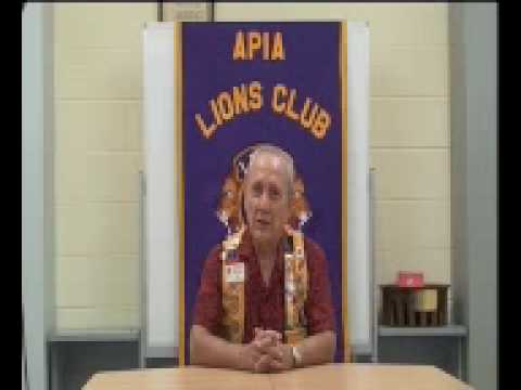 Oloipola Terrence Betham, President of the Apia Lions Club Samoa: Pacific Pathways