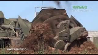 getlinkyoutube.com-Землеройная Машина инженерного назначения МДК 3 и БАТ 2 в работе. Военная техника СССР.