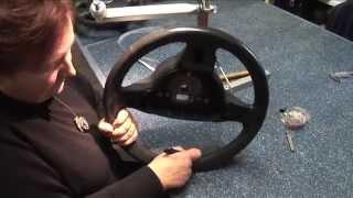 Obszywanie kierownicy skórą Leather steering wheel cover