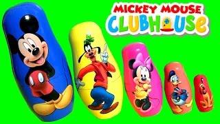 getlinkyoutube.com-Mickey Mouse Stacking Cups com Pateta Minnie Pato Donald Pluto Copinhos de Empilhar em Portugues BR
