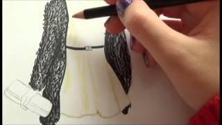 getlinkyoutube.com-♥Tutorial Dibujo Top Model~Vestido nochevieja♥