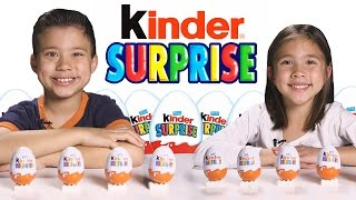 More KINDER SURPRISE EGGS!!! Let's crack open 10 more!