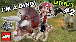 getlinkyoutube.com-Lets Play LEGO Jurassic World Part 2: Duddy Rides a Dino! Welcome to Jurassic Park (FGTEEV Gameplay)