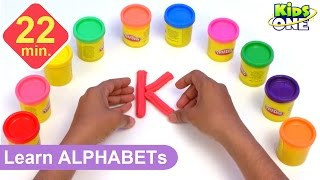 getlinkyoutube.com-Play and Learn ALPHABETS with Play Doh for Children | Play-doh ABC for Kids