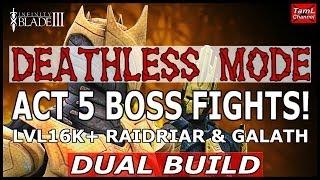 getlinkyoutube.com-Infinity Blade 3: DEATHLESS MODE ACT 5 BOSS FIGHTS LVL16K!  (Dual Build)