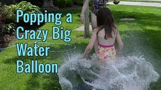 getlinkyoutube.com-Popping a Huge Water Balloon - TruthPlusDare Extra - Bethany G