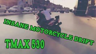 Insane Motorcycle Drift TMAX 530