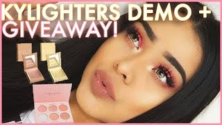 KYLIGHTERS DEMO ALL 6 SHADES   GIVEAWAY W/ ANASTASIA X NICOLE PALETTE