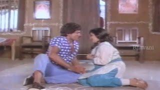 Chiranjeevi And Radhika Romantic Scene || Donga Mogudu Movie Scenes