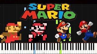 getlinkyoutube.com-Super Mario Medley | Piano Tutorial (Synthesia)