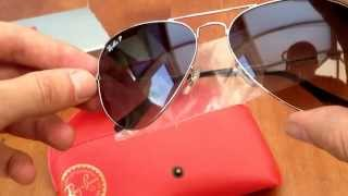 Ray Ban polarised aviator sunglasses (original)
