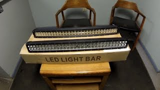 "getlinkyoutube.com-32 Inch ""Cheap Ebay"" Cree LED Light Bar Review Straight Vs Curved"