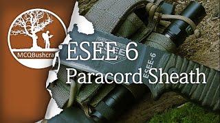 getlinkyoutube.com-Bushcraft Knives: ESEE Paracord Sheath