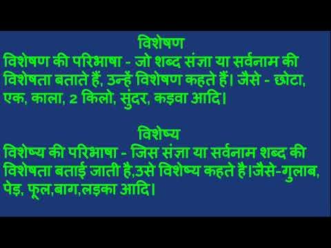 Visheshan, Visheshy, Pravisheshan     विशेषण, विशेष्य, प्रविशेषेण