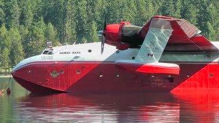 Martin Mars Water Bomber Engine Start Up