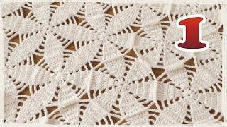 getlinkyoutube.com-モチーフをつなぐショール・ブランケットの編み方(1)【かぎ編み】