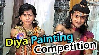 getlinkyoutube.com-Ashoka and Sushim's diya painting competiton