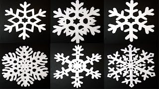 getlinkyoutube.com-How to make 6 pointed PAPER SNOWFLAKES: EASY and AMAZING results! By Art Tv