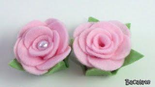 Artesanato Como fazer ROSA em FELTRO - Flor, Manualidades, DIY
