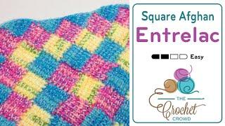 getlinkyoutube.com-How to Do Tunisian Crochet: Entrelac in a Square Afghan