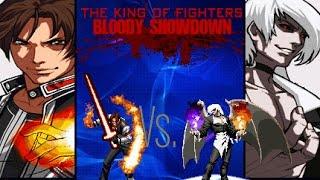 getlinkyoutube.com-[KOF BS] Clone Kyo MI VS Boss Element