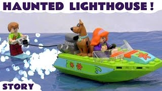 getlinkyoutube.com-Scooby Doo LEGO Stop Motion Toy Story with Minions and Thomas & Friends | Haunted Lighthouse