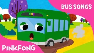 getlinkyoutube.com-The Wheels on the Green Town Bus | Bus Songs | Car Songs | Pinkfong Songs for Children