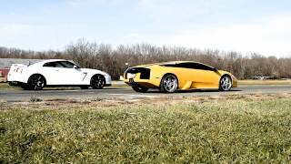 getlinkyoutube.com-Nissan R35 GT-R vs. Lamborghini Murcielago