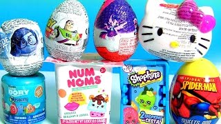 getlinkyoutube.com-Kids Toys Surprise NUM NOMS Dory Shopkins 4 Toy Story MLP My Little Pony Kinder Egg Hello Kitty