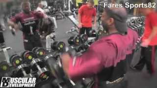 getlinkyoutube.com-Dexter Jackson 2013 Trains Shoulders 23 Days Out from Arnold Classic