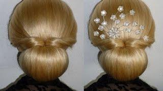 getlinkyoutube.com-Easy und Quick Prom/Wedding Hairstyle.Donut Hair Bun Updo Hairstyles Tutorial.Penteados