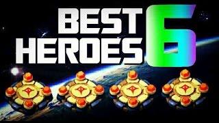Best 6 Heroes In Castle Clash!!!!