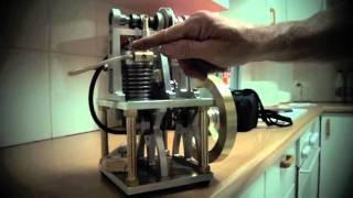 getlinkyoutube.com-Homemade 4 stroke petrol engine
