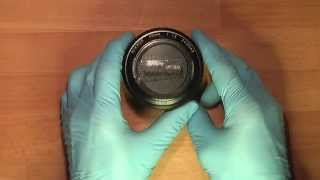 getlinkyoutube.com-Cleaning lens elements in NIKKOR 50mm 1:1.2_____PART 1