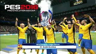 getlinkyoutube.com-PES 2016 UEFA Champions League Final PSG vs Barcelona 3-5