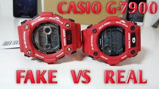 getlinkyoutube.com-CASIO G-SHOCK G-7900 Real VS Fake - Don't get fooled into buying fake products!