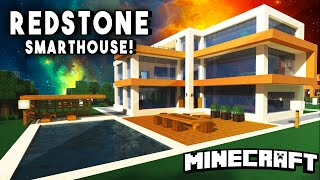 EPIC REDSTONE SMART HOUSE - Modern Mansion (w/ A Personal Tank!)