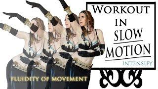 getlinkyoutube.com-Slow Motion Belly Dance Workout