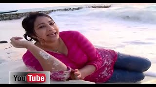 Lakshmi Nair Cleavage on Maldives Beach width=