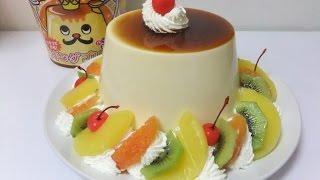 getlinkyoutube.com-♪ 巨大!! バケツで作る[キングプリン] King pudding