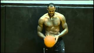 getlinkyoutube.com-LeBron Puts on a Dunking Clinic in Practice