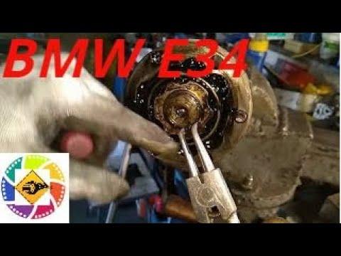 BMW E34 2.5l замена чехлов шарнира задней Replacement of hinge covers for rear