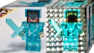 Dargo 마인크래프트 스티브 다이아 갑옷 레고 짝퉁 투명 블럭 미니피규어 리뷰 Lego knockoff minecraft Steve Diamond lego minifigures