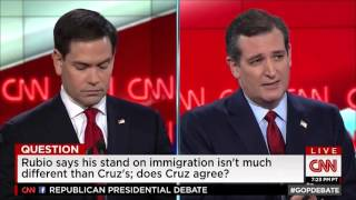 Rubio, Cruz have fierce exchange over immigration policies at CNN debate